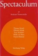Spectaculum. Fünf moderne Theaterstücke
