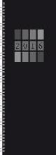 Tischkalender Vertikus Colourlux schwarz 2016
