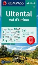 KOMPASS-Karten GmbH , KOMPASS Wanderkarte Ultental, Val d`Ultimo