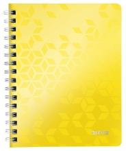 , Notitieboek Leitz WOW A5 lijn spiraal PP geel