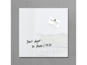 , glasmagneetbord Sigel Artverum 300x300x15mm super wit