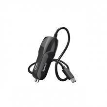 , Autolader Hama USB-micro 1A 1 meter zwart