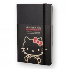 , Moleskine LE Notitieboek Hello Kitty Large (13x21 cm) Gelinieerd Zwart