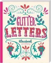 , Kleurboek Interstat volwassenen glitter  letters