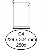, Envelop Hermes akte C4 229x324mm zelfklevend wit 250stuks