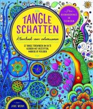 Tangle schatten kleurboek voor volwassenen