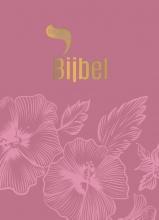 , Roodletterbijbel - design bloemen