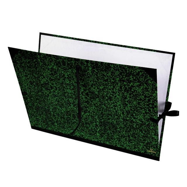 ,Tekenmap Canson 52x72cm kleur groen annonay sluiting met linten