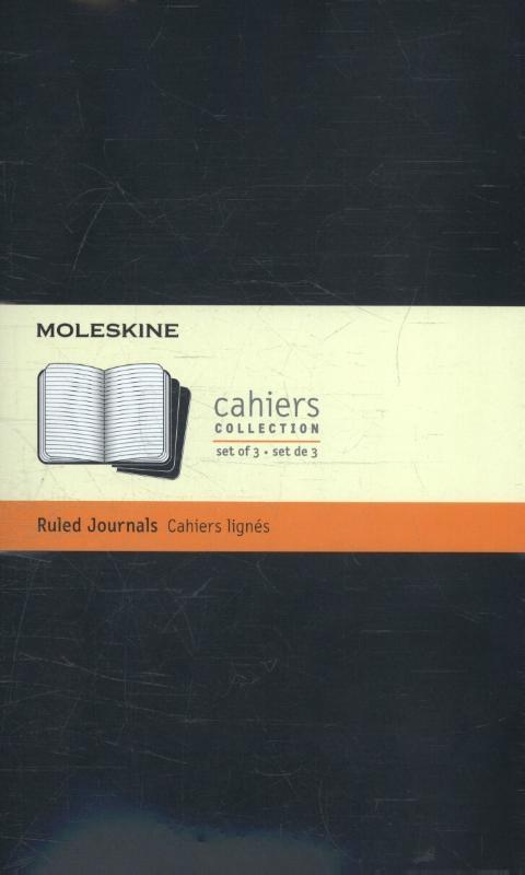 ,Moleskine Ruled Cahier Black Journal Large