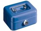 ,geldkistje Alco 125x95x60mm staal met gleuf donkerblauw