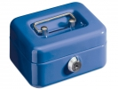 <b>geldkistje Alco 125x95x60mm staal met gleuf donkerblauw</b>,