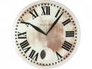 ,Wandklok NeXtime dia. 43 x 4.2 cm, glas, wit, `Romana`