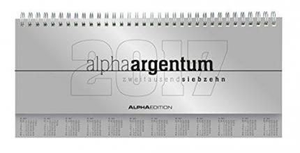 Tisch-Querkalender 2017 apha argentum