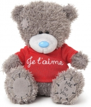 Go1w4129 , Me to you knuffel - beer - je t`aime - 13cm