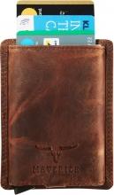 Ma-480.225-33 , Maverick dalian slim cardprotector ritssluiting bruin