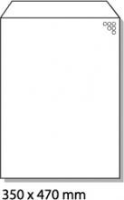 , luchtkussenenvelop Raadhuis 350x470mm K20 wit plakstrip     doos a 50 stuks