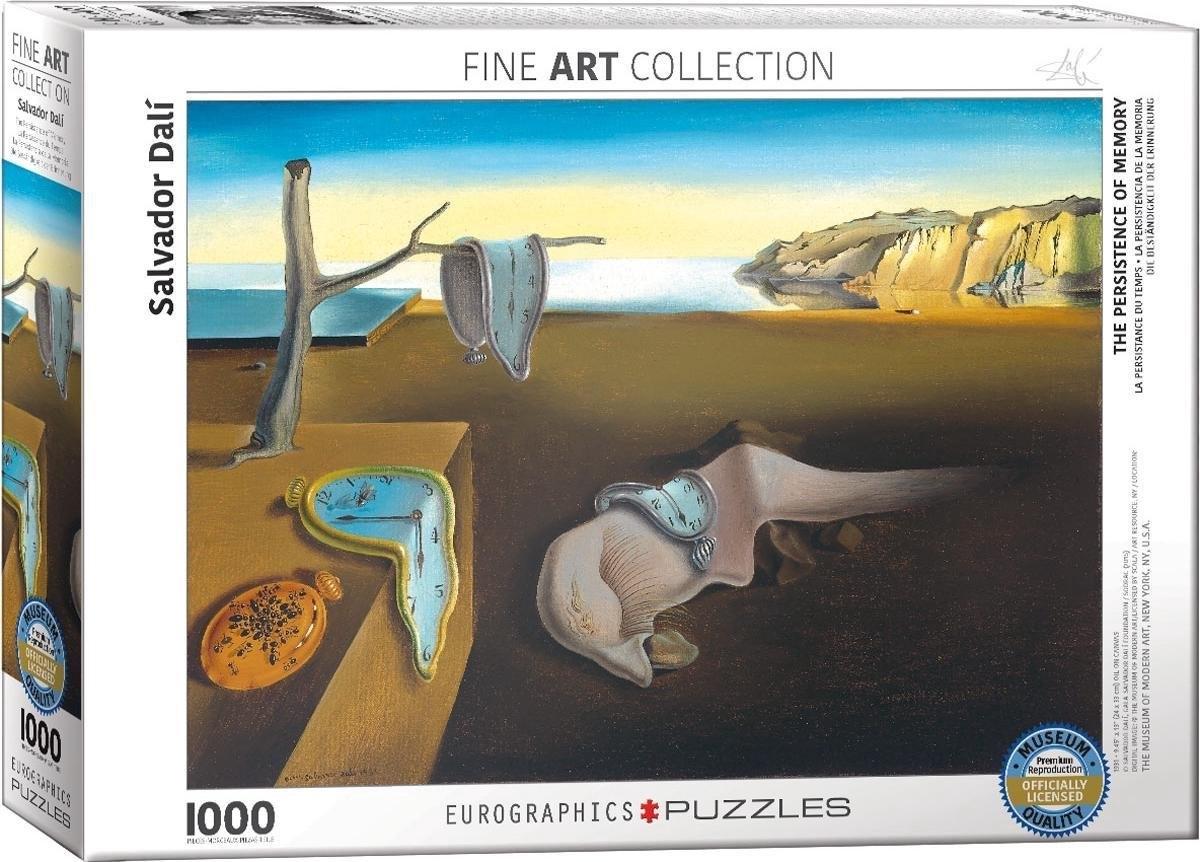 Eur-6000-0845,Puzzel the persistence of memory - salvador dali - 1000 stuks 48x68 cm