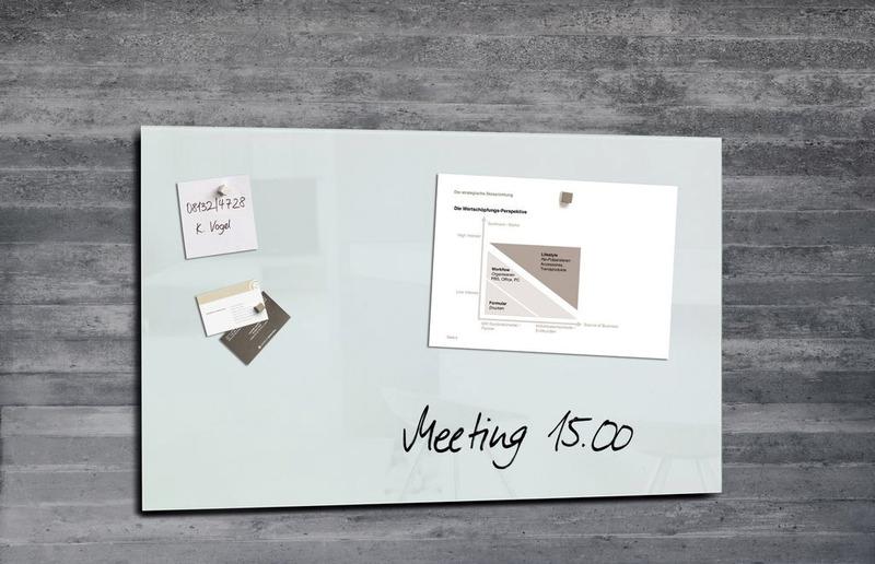 ,glasmagneetbord Sigel Artverum 780x480x15mm super wit