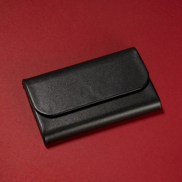 ,visitekaartetui Sigel Torino leer voor kaart 95x60mm
