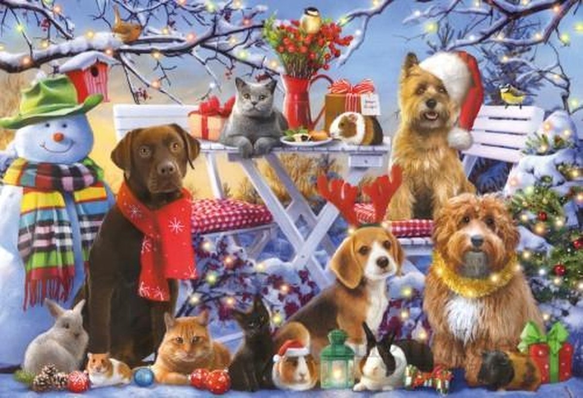 Gib-g1115,Puzzel festive friends - little gibsons - 150 - 49 x 34