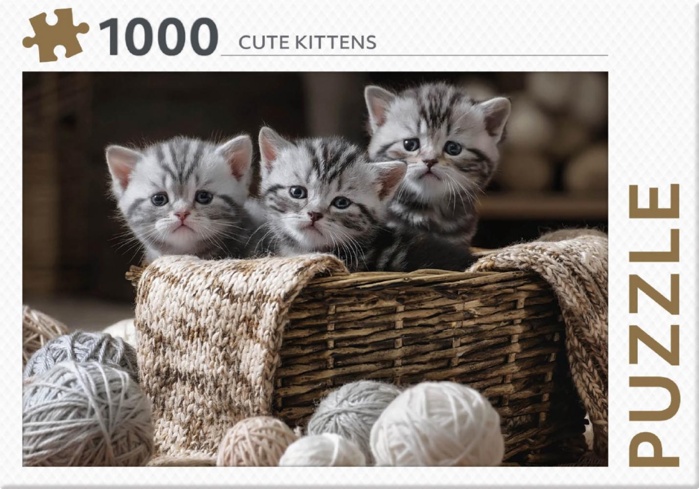 ,Rebo legpuzzel 1000 stukjes - Cute Kittens