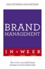 Paul Hitchens,   Julia Hitchens, Brand Management In A Week