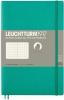 Lt358309 , Leuchtturm notitieboek softcover 19x12.5 cm bullets/dots/puntjes emerald green