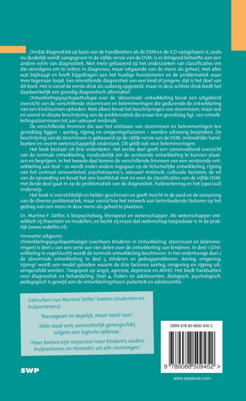Martine F. Delfos,Ontwikkelingspsychopathologie 2