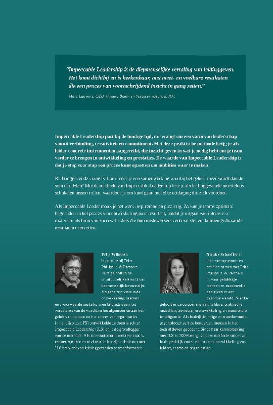 Frits Wilmsen, Nienke Schaeffer,Impeccable Leadership