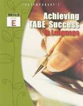 McGraw-Hill Education Achieving Tabe Success in Language, Level E Workbook
