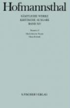Hofmannsthal, Hugo von Dramen XIII. Das Leben ein Traum Dame Kobold