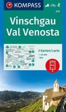 , Vinschgau, Val Venosta 1:25 000