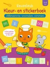 , Reuzeleuk kleur- en stickerboek - Allereerste woorden vormen (5-6 j.)