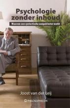 Joost van der Leij , Psychologie zonder inhoud