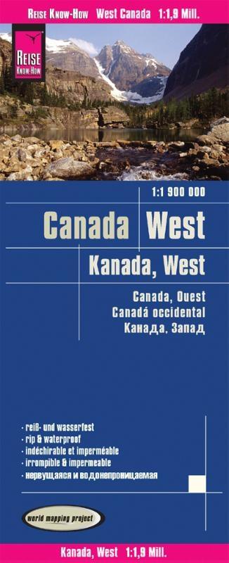 ,Reise Know-How Landkarte Kanada West 1 : 1.900.000