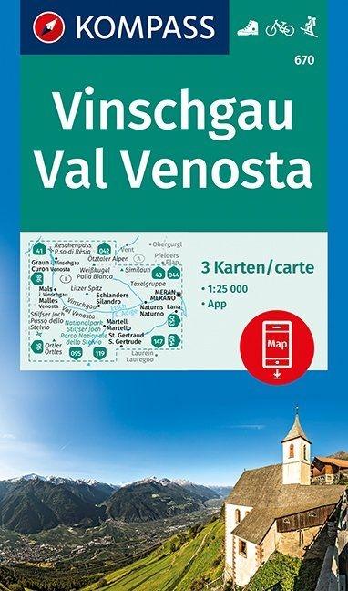 ,Vinschgau, Val Venosta 1:25 000