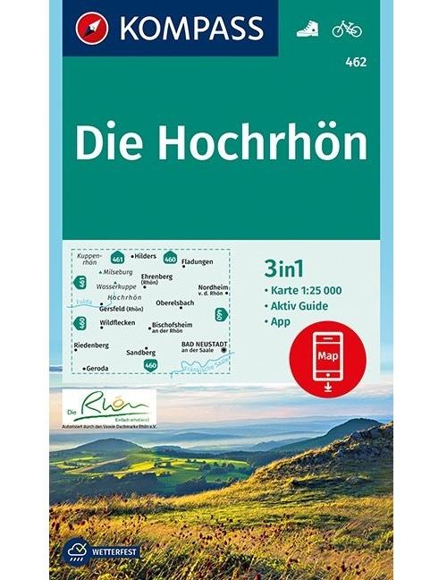 KOMPASS-Karten GmbH,KOMPASS Wanderkarte Die Hochrhön