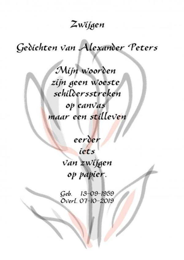 Alexander Peters,Zwijgen