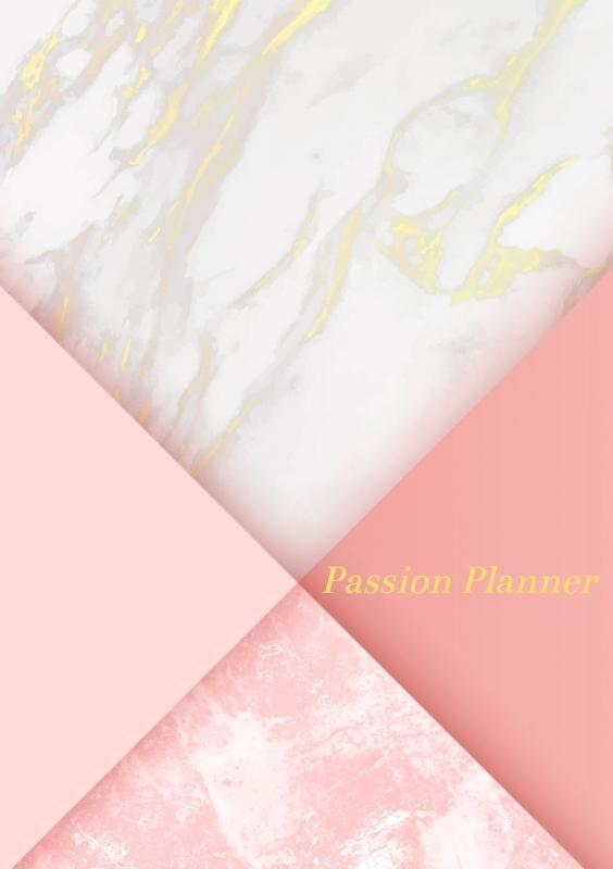 Allets  Comfort,Passion Planner-12 maanden- wekelijks - A5- Zachte kaft-Marmer Goud- Allets Comfort