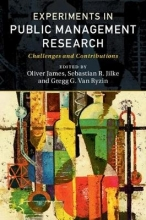 James, Oliver Experiments in Public Management Research