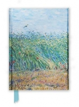 Van Gogh`s Wheat Field With a Lark Foiled Notebook