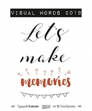 Visual Words 2019 Typo Art Kalender