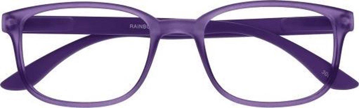 ,Leesbril +3.00 regenboog lila