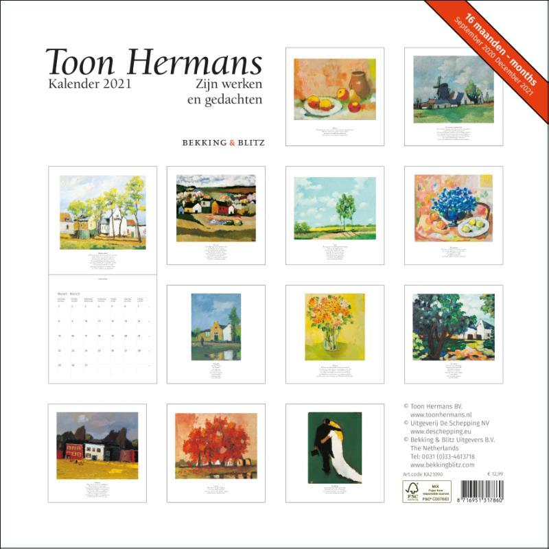 ,Toon Hermans maandkalender 2021