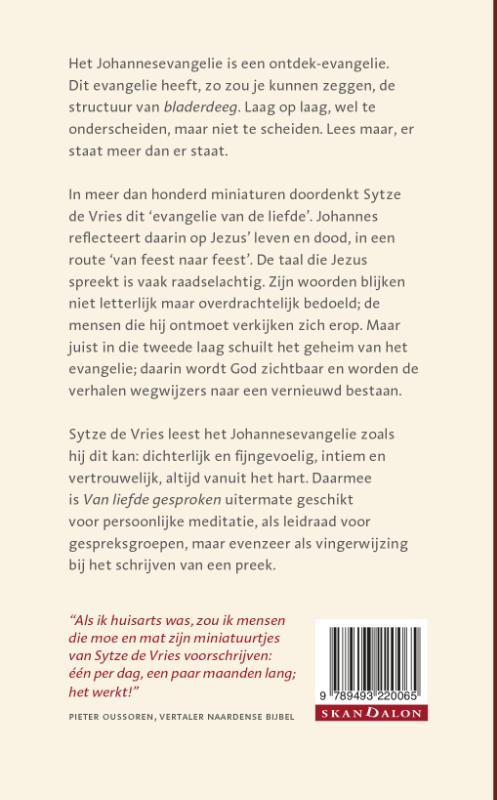 Sytze de Vries,Van liefde gesproken - Miniaturen bij Johannes