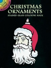 Marty Noble Christmas Ornaments Stained Glass Coloring Book