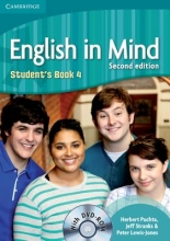 Puchta, Herbert,   Stranks, Jeff,   Lewis-Jones, Peter English in Mind Level 4 Student`s Book with DVD-ROM