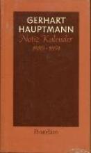 Hauptmann, Gerhart Notiz - Kalender 1889 bis 1891