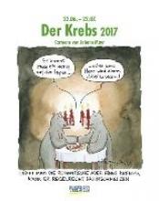 Der Krebs 2017. Sternzeichen-Cartoonkalender