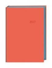 Terminer A6. Leinen orange - Kalender 2017
